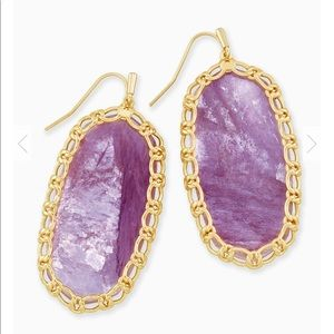New Kendra Scott Macrame Danielle Gold Earrings